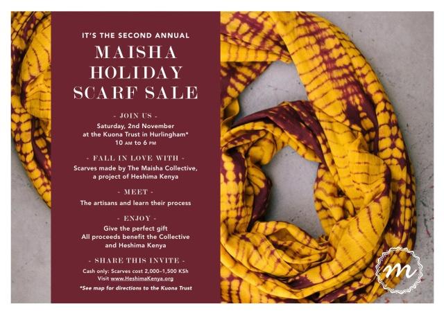 The Second Annual Maisha Holiday Scarf Sale - Nairobi, Kenya